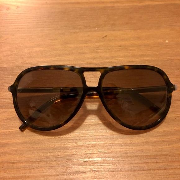 Burberry Tortoise Aviator Sunglasses